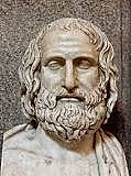 Euripides writes his first tragedy