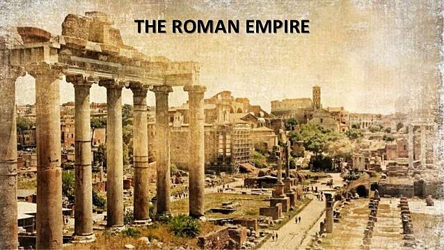 the roman empire was split in half