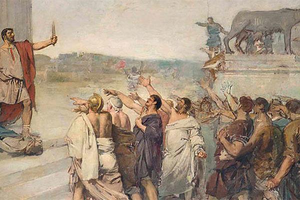 The Visigoths sack Rome.