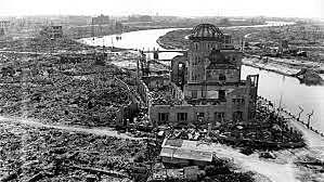 """America drops a uranium atomic bomb known as the """"Little boy"""" on Hiroshima at 8:16 am. (Hiroshima time)"""