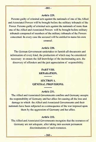Treaty of Versialles Estabalished
