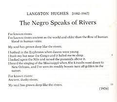 The Negro Speaks Of Rivers was published.