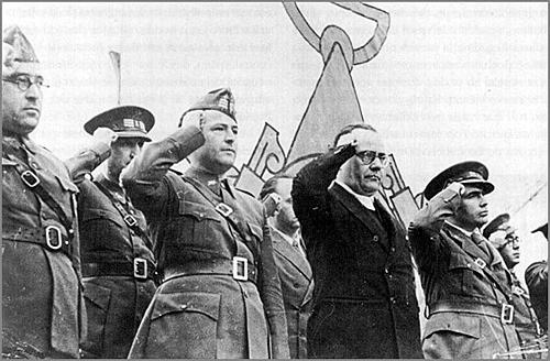 La retirada de les Brigades Internacionals del front de guerra.