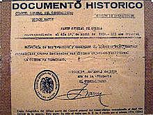 Franco signa el final de la guerra.