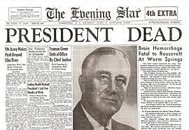FDR death and Harry Truman Became President