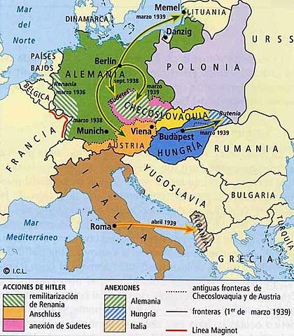 L'expansionisme d'Itàlia i Alemanya (1935 - 1939)