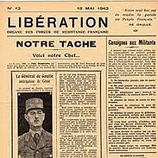 Parution clandestine en zone sud de Libération