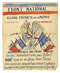 Création du mouvement de résistance communiste 'Front National'