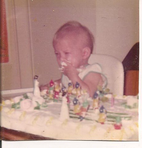 A picture of me at my 1st Birthday