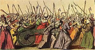Mujeres inician marcha en Versalles