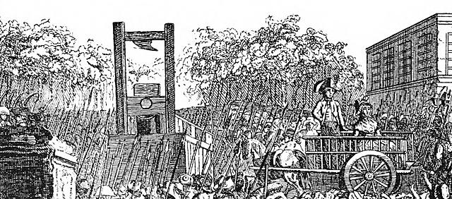 La guillotina.