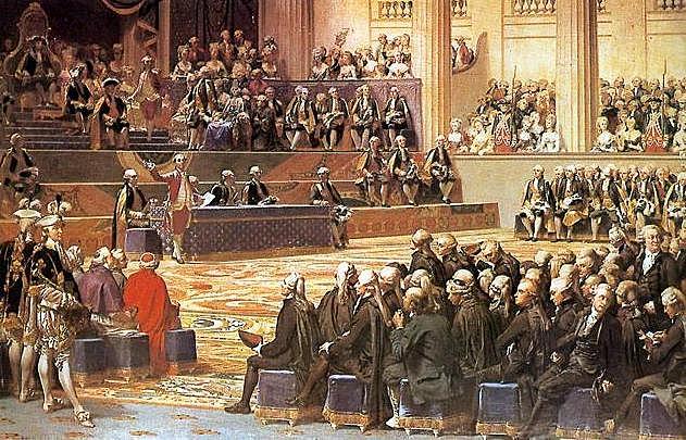 Luis XVI hace una reunión de los estados generales, para formar un nuevo plan fiscal.
