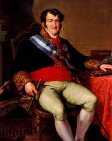 Retorno al trono de Fernando VII
