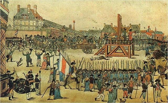 Ejecución de Robespierre.