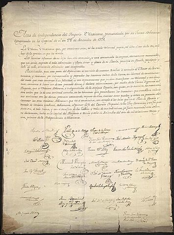 Declaration of Independence of the Mexican Empire (Mexico)