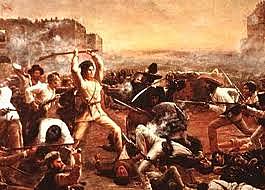 The Battle of the Alamo (Texas)