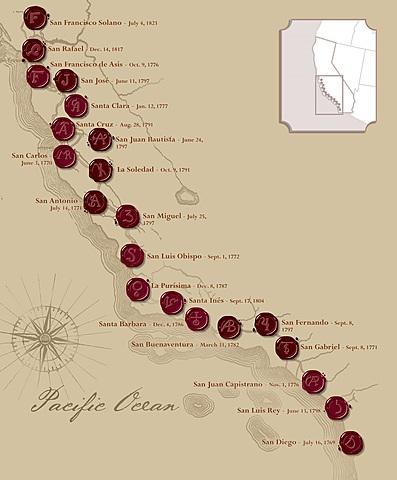 21 California missions (California)