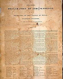 Texas Declaration of Independence (Texas)