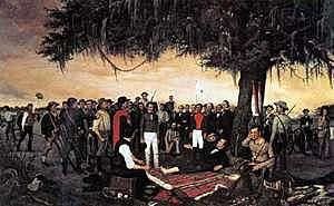 The Battle of San Jacinto (Texas)
