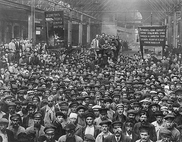Huelga de obreros.
