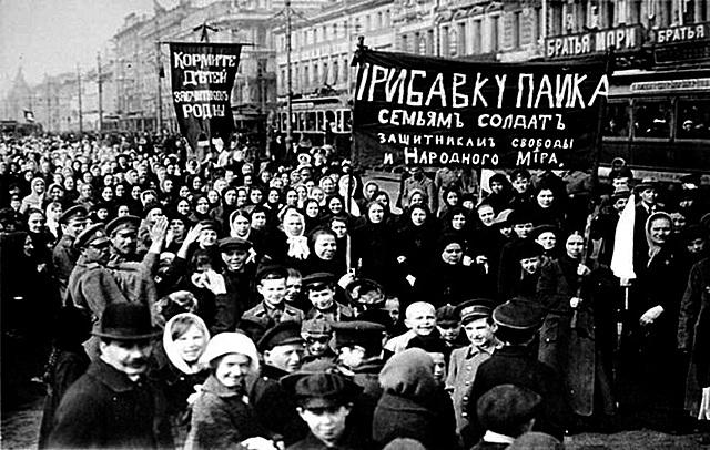 Inicia la revolución rusa.