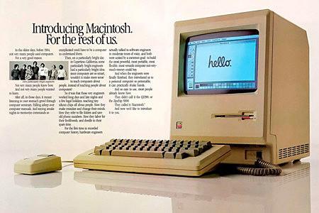 Lanzamiento de Macintosh.