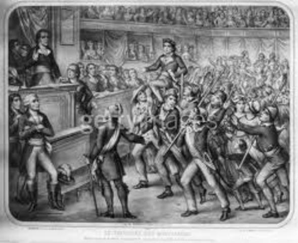 Arresto de 29 diputados girondinos