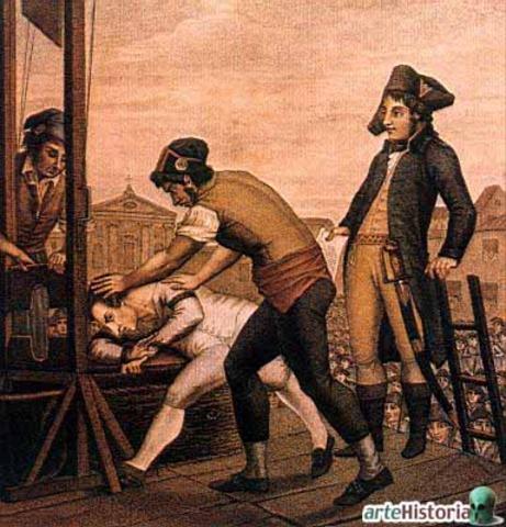 Ejecución de Robespierre y los suyos