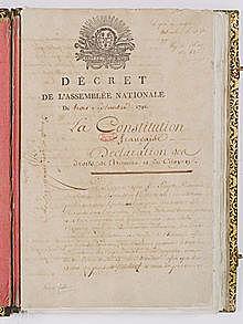 Se crea la primera constitución Francesa