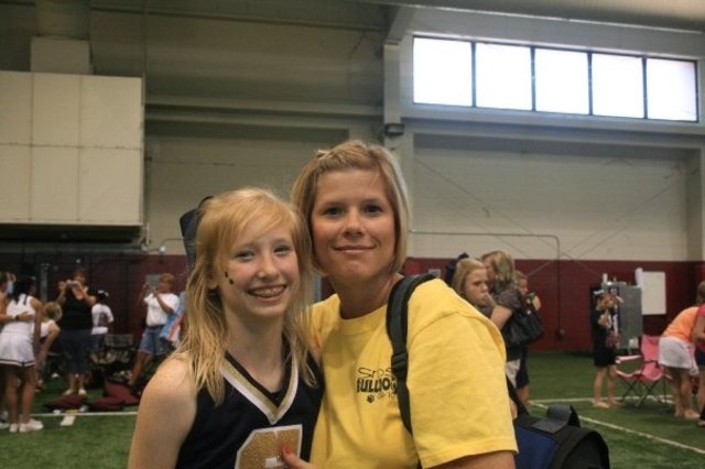 Randi and I in Tuscaloosa for cheer camp