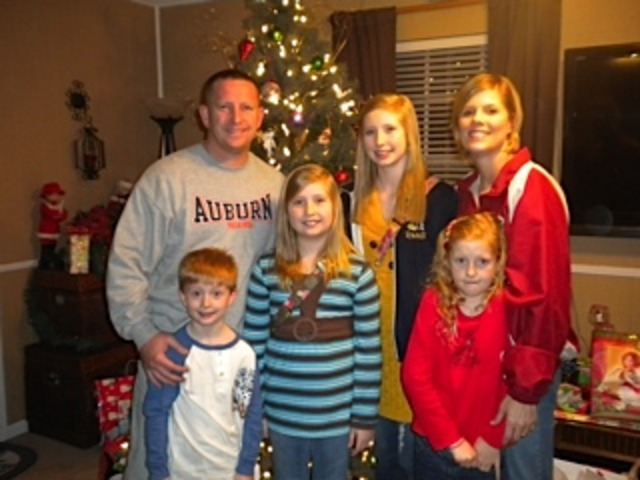 My family and I at Christmas