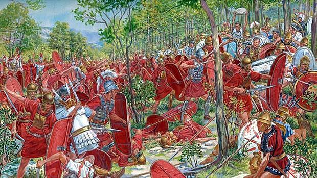 Triunfo de César en Munda sobre los hijos de Pompeyo