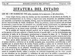 Ley de represión de la masonería y el comunismo.