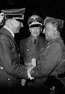 Encuentro de Hendaya entre Franco y Hitler.