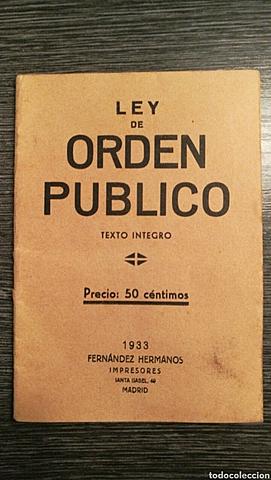 Ley de Orden Público.