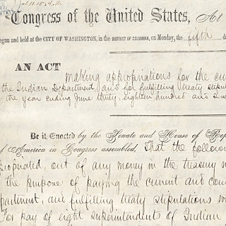 Amendment to Indian Appropriation Act of 1851 (Native Americans)