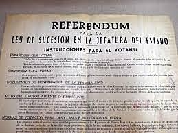 LEY DE SUCESIÓN Y REFERÉNDUM.