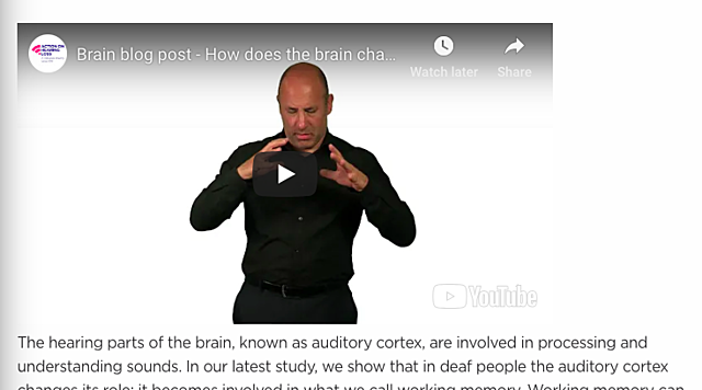 How does the Brain change in people who are deaf!?