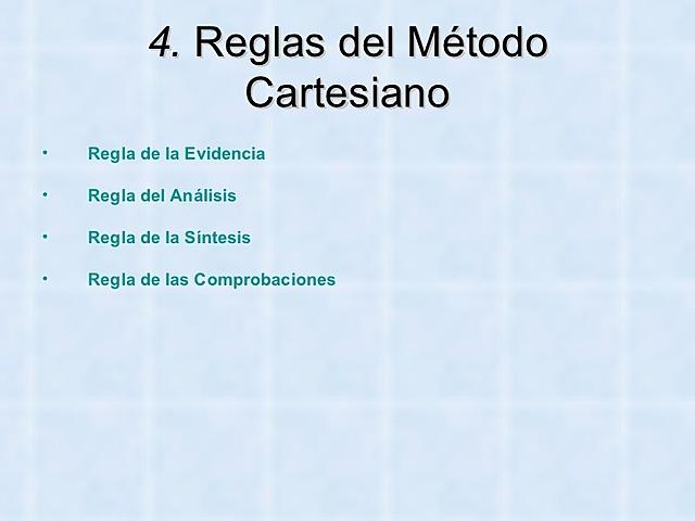 Surgimiento de Método Cartesiano.