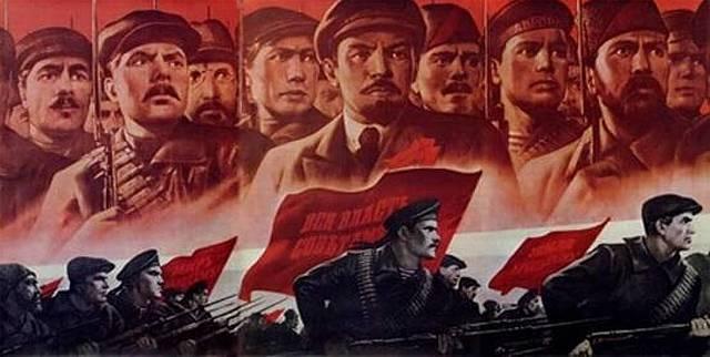 Guerra civil entre los bolcheviques y los contrarrevolucionarios