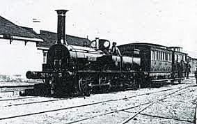 inauguración de la primera linea ferroviaria.