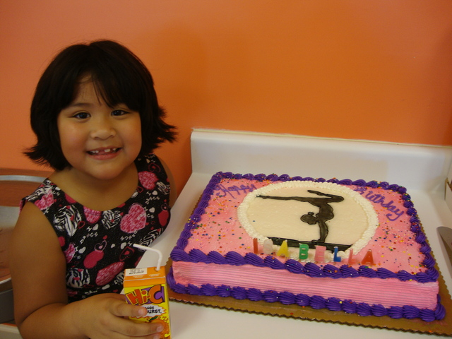 My 7th birthday at The Little Gym.