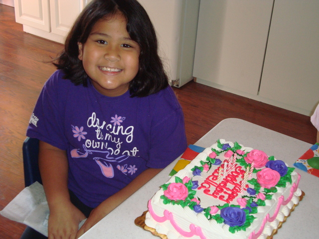 My 8th birthday at The Little Gym.