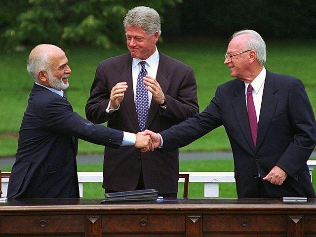 1988-1998  לאומי הסכם שלום עם ירדן