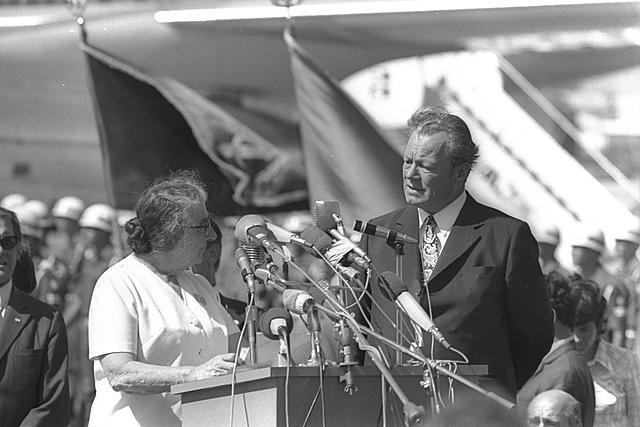 1968-1978  עולמי קנצלר גרמניה מבקר בישראל לראשונה