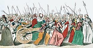 Poor women of Paris march on Versailles