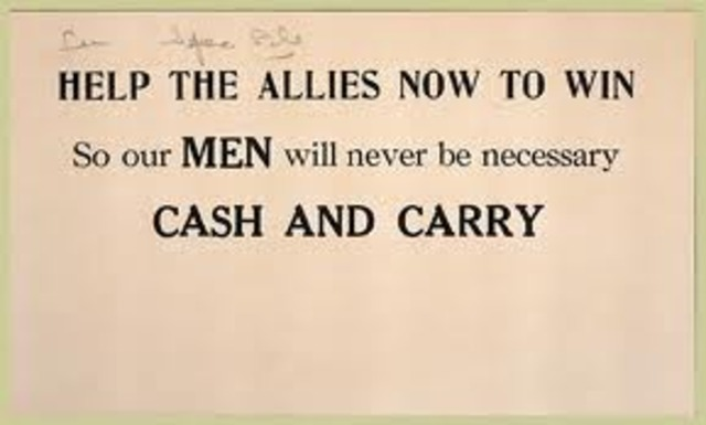 Neutrality Act of 1939 – Cash and carry