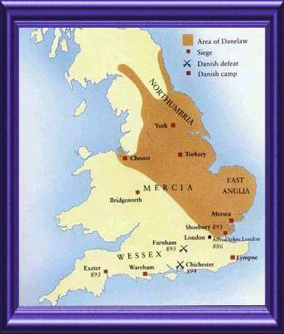 Eastern England (Danelaw) is conquered by the English
