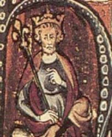King Canute (Cnut) of Denmark captures the English Crown