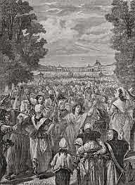 Poor women of Paris march at Versailles